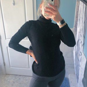 Ann Taylor Ribbed Turtle Neck Long Sleeve Sweater